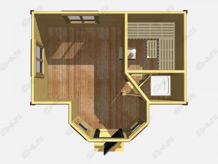 Одноэтажная деревянная бани под ключ 5 на 3