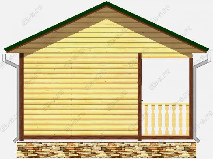 Проект деревянной бани 5х5 из профилированного бруса