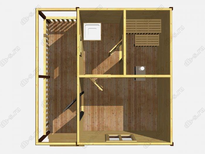 Одноэтажная деревянная бани под ключ 5 на 5