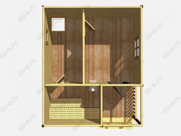 Одноэтажная деревянная бани под ключ 6 на 5