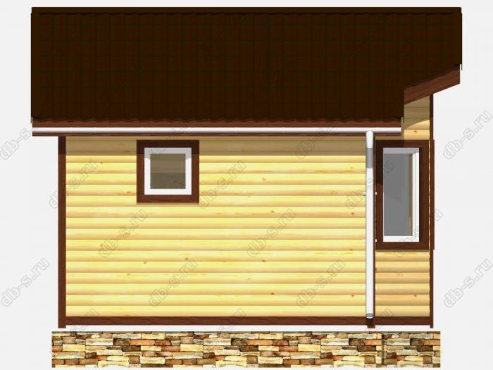 Деревянная баня 4 на 4 с отделкой под ключ