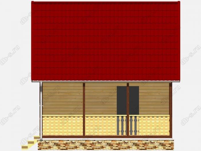 Каркасная баня 6х6 терраса (веранда)