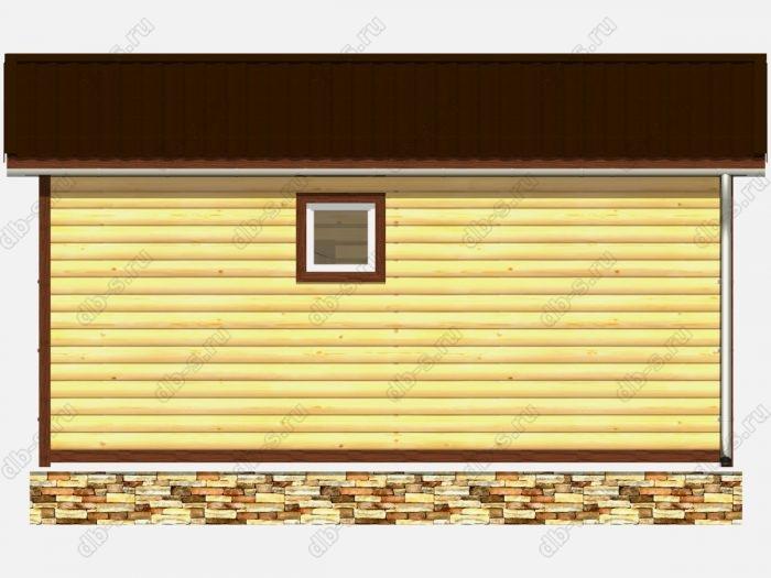 Проект деревянной бани 6х3 из профилированного бруса