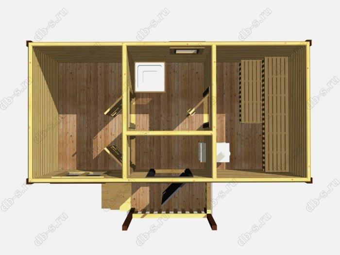 Одноэтажная деревянная бани под ключ 6 на 3