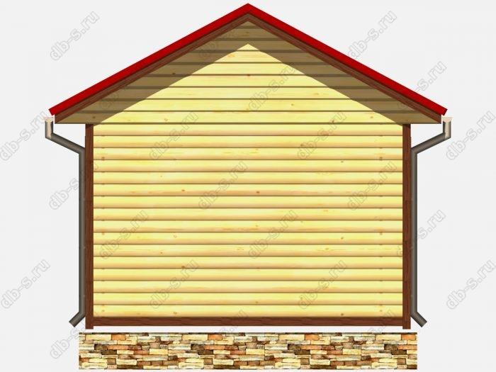 Проект деревянной бани 4х4 из профилированного бруса
