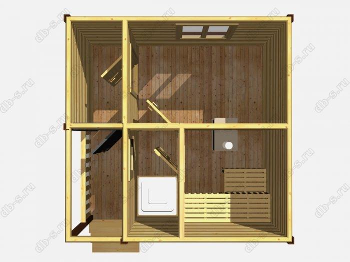 Одноэтажная деревянная бани под ключ 4 на 4