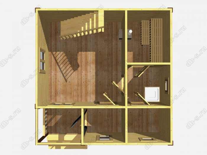 Деревянная баня 6 на 6 с отделкой под ключ