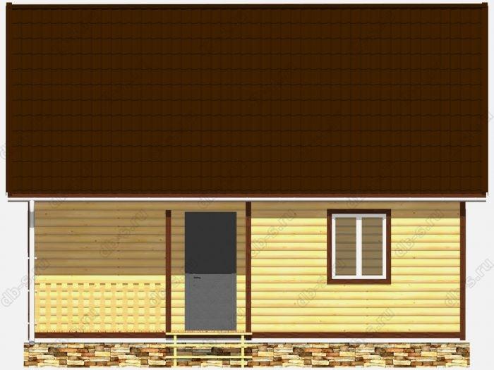 Каркасная баня 6х8 терраса (веранда)
