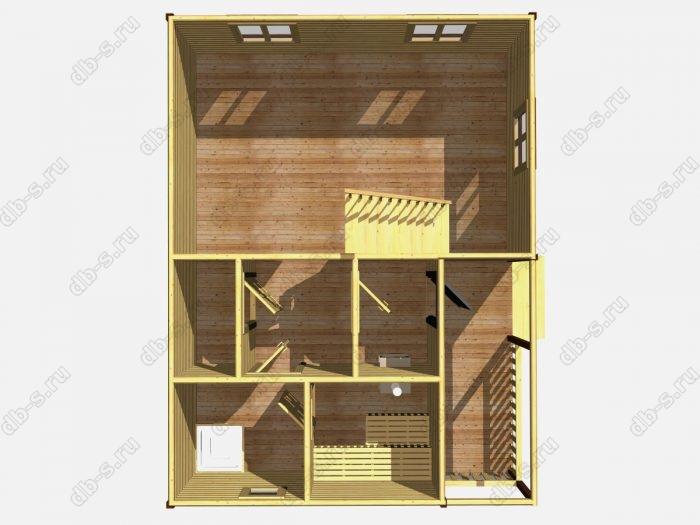 Деревянная баня 6 на 8 с отделкой под ключ