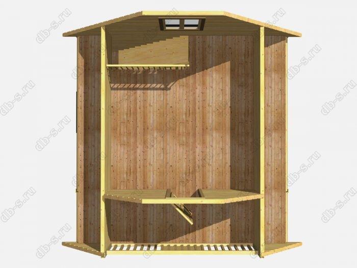 Проект деревянной бани 6х6 из профилированного бруса