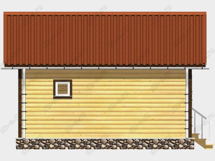 Проект деревянной бани 5х6 из профилированного бруса