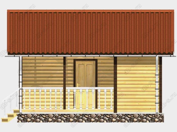 Одноэтажная деревянная бани под ключ 5 на 6