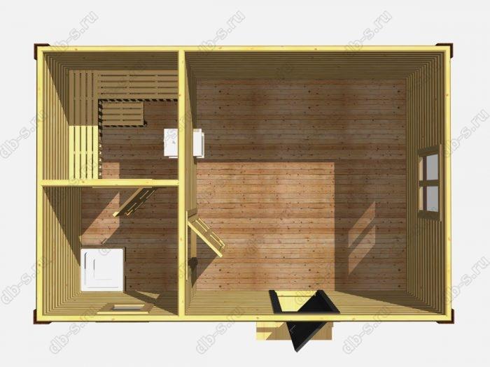 Одноэтажная деревянная бани под ключ 6 на 4
