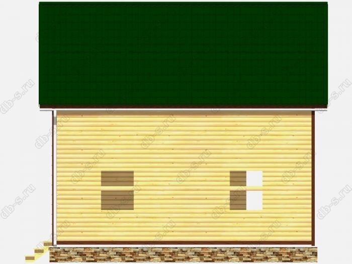 Проект сруба дома площадью 122.75кв.м.