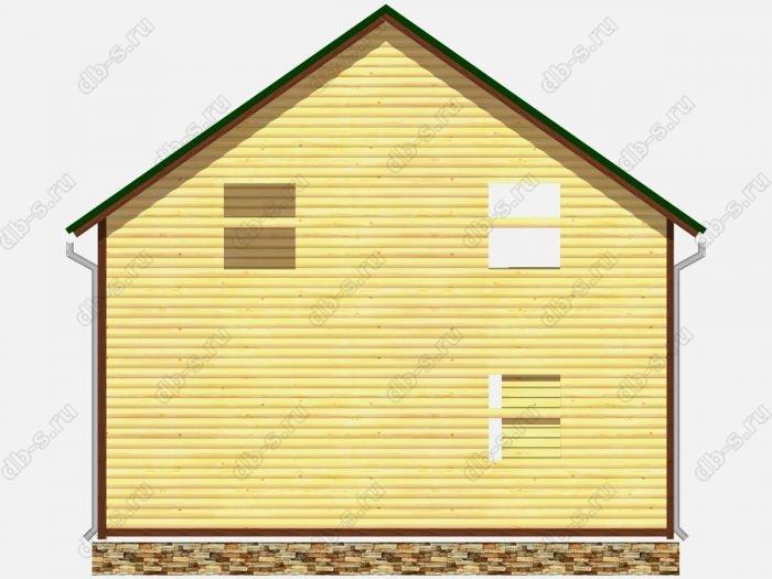 Сруб дома 8х8 терраса (веранда) балкон двухскатная крыша