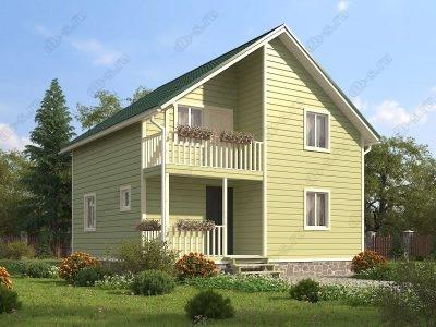Каркасный дом 8х8 проект К1