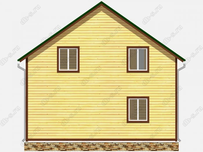 Проект дома из бруса площадью 122.75кв.м.