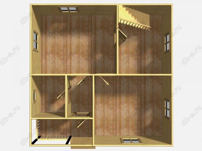 Проект дома для постоянного проживания 8 на 8