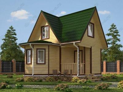 Дом из бруса 6х6 проект Д10