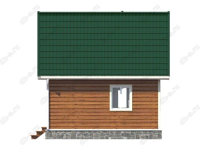 Проект каркасного дома площадью 42кв.м.