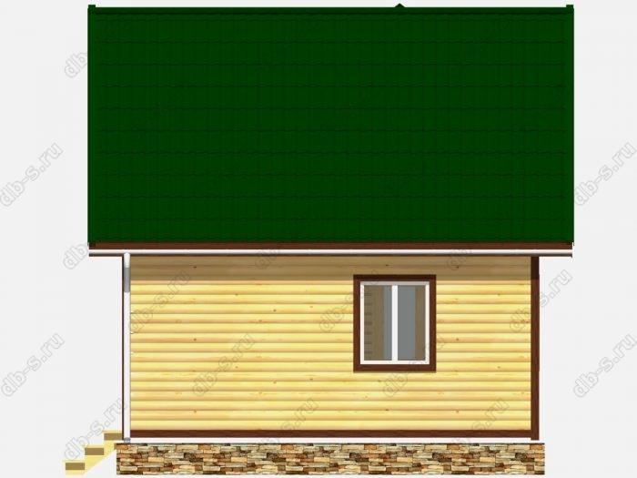 Проект дома из бруса площадью 42кв.м.