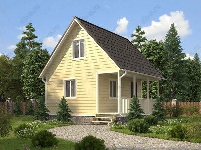 Каркасный дом 6х6 проект К11