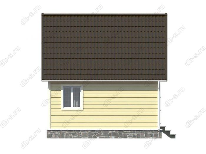 Каркасный дом 6х6 терраса (веранда) двухскатная крыша