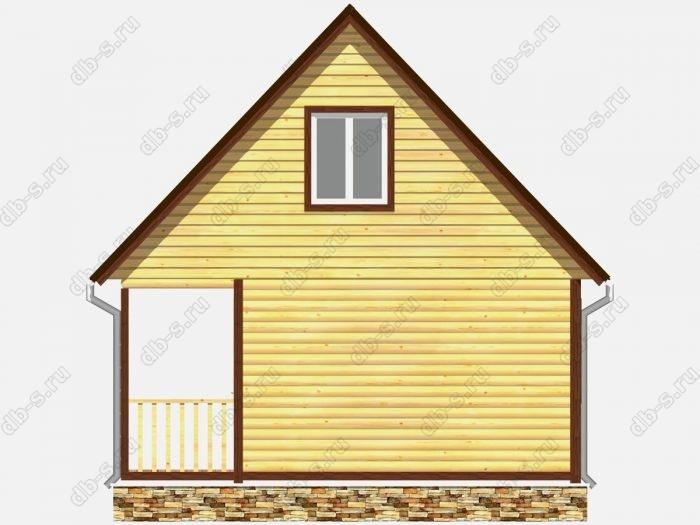 Проект дома из бруса площадью 51кв.м.