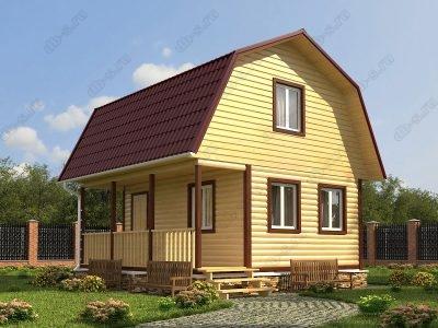 Дом из бруса 6х6 проект Д12