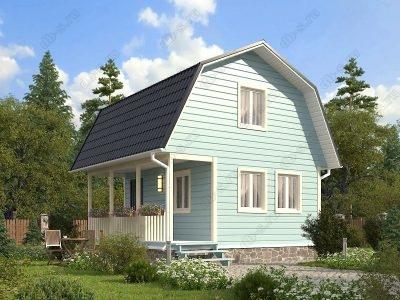 Каркасный дом 6х6 проект К12