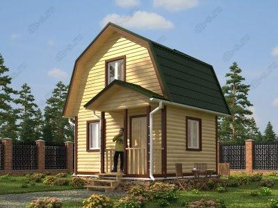 Дом из бруса 5х4 проект Д13