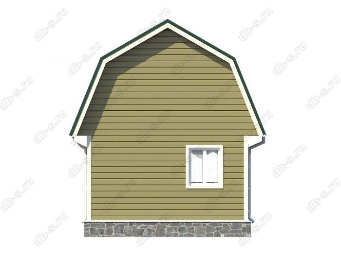 Проект каркасного дома площадью 34кв.м.