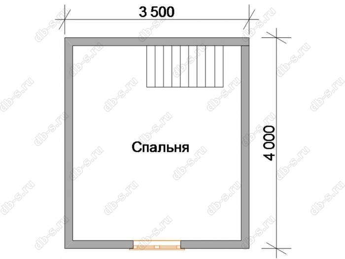 Дом 5 на 4 план мансардного этажа