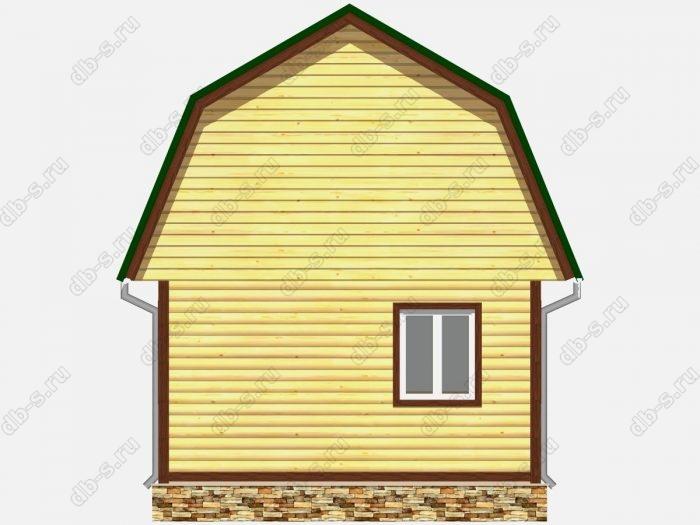 Проект дома из бруса площадью 34кв.м.