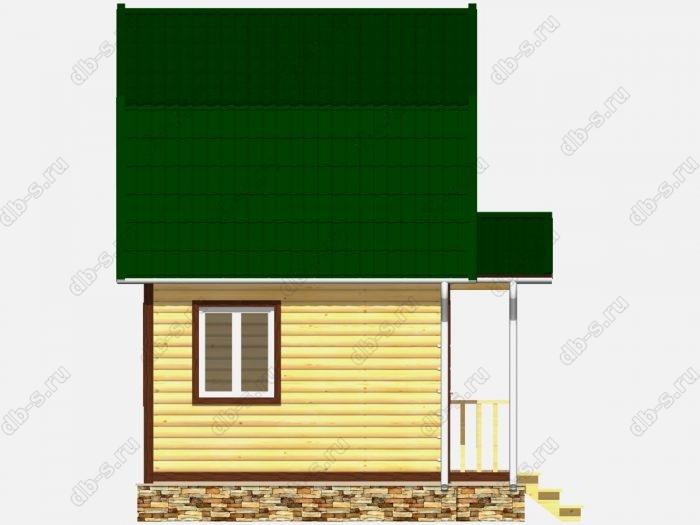Строительство домов под ключ 5х4 из профилированного бруса