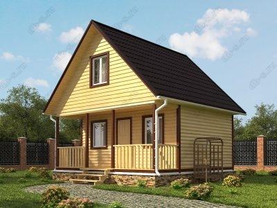 Дом из бруса 6х6 проект Д14