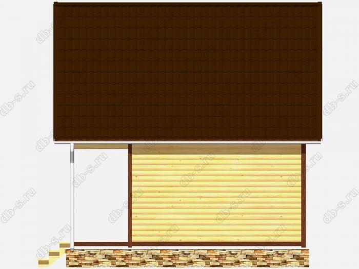 Сруб дома 6х6 терраса (веранда) двухскатная крыша