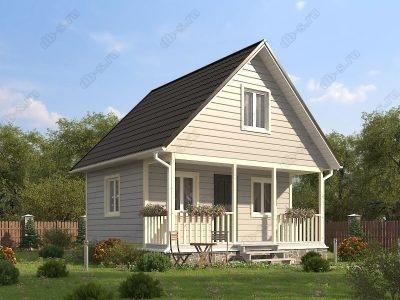 Каркасный дом 6х6 проект К14