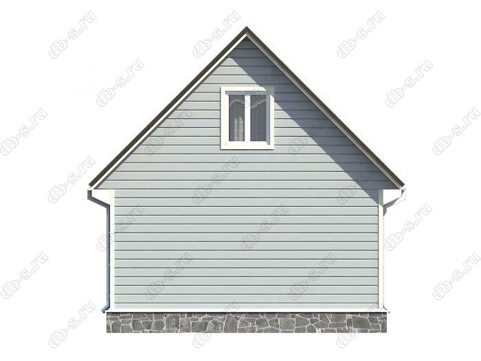 Проект каркасного дома площадью 51кв.м.