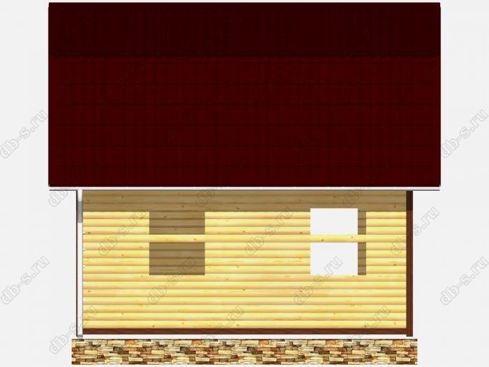 Сруб дома 6х4.5 терраса (веранда) ломаная крыша вальмовая крыша