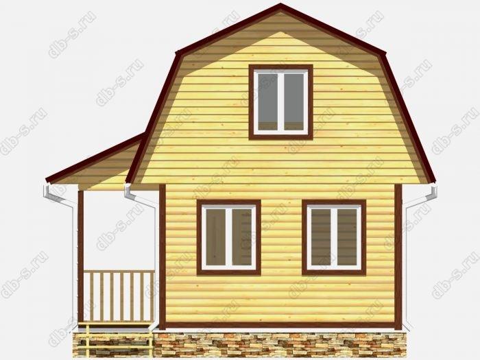 Фото деревянного дома из профилированного бруса под ключ 6 на 4.5