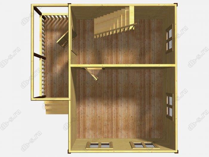 Проект дачного дома 6 на 4.5