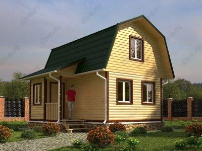 Дом из бруса 4,5х6 проект Д16