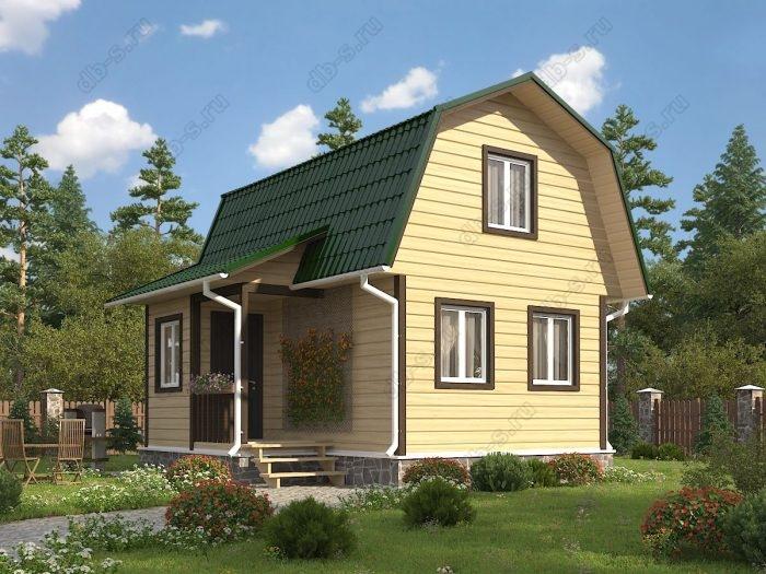 Проект с мансардой 4.5 на 6 каркасный дом под ключ ломаная крыша вальмовая крыша