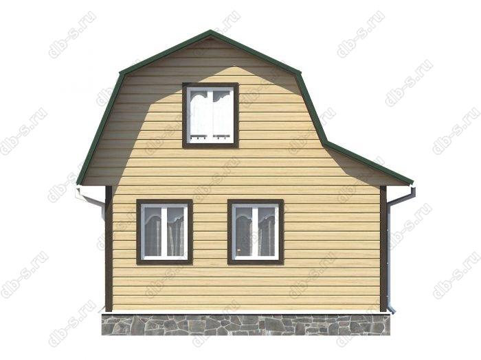 Проект каркасного дома площадью 48кв.м.