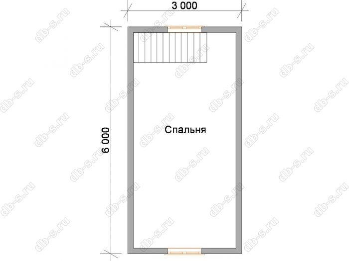 Дом 4.5 на 6 план мансардного этажа