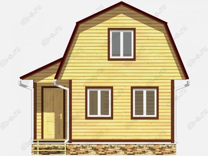 Фото деревянного дома из профилированного бруса под ключ 4.5 на 6