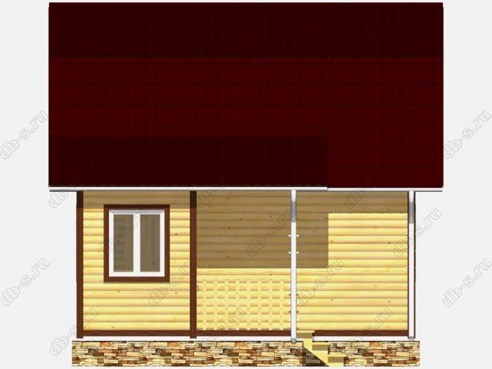 Дом из бруса 4.5х6 ломаная крыша вальмовая крыша