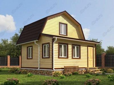 Дом из бруса 6х6 проект Д17