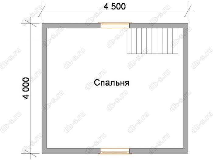 Дом 6 на 6 план мансардного этажа